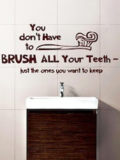 """""""You Don't Have To…"""" Quoted Vinyl Wall Sticker - Creative Width Design"""