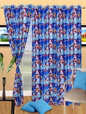 Doremon Printed Polyester Eyelet Door Curtain - Handloomdaddy