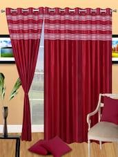 3D Print Red Eyelet Door Curtain - Handloomdaddy