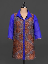 Printed Shirt Collar Chiffon Shirt - Ayaany