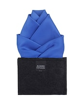 blue microfibre pocket square -  online shopping for Pocket Squares