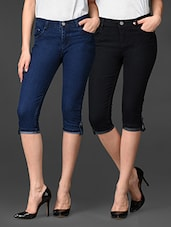 Combo Of Stretchable Skinny Fit Capri - By