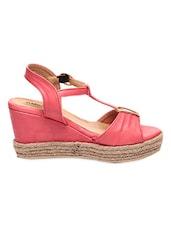 Pink Open Toe Wedges - Marc Loire