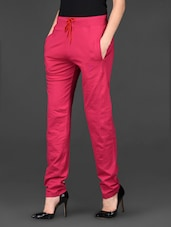 Pink Plain Solid Cotton Lower - Posh 7