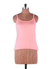 Orange Plain Solid Camisole Cotton - Fabme