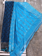 Turquoise Cotton Silk Saree - Creation