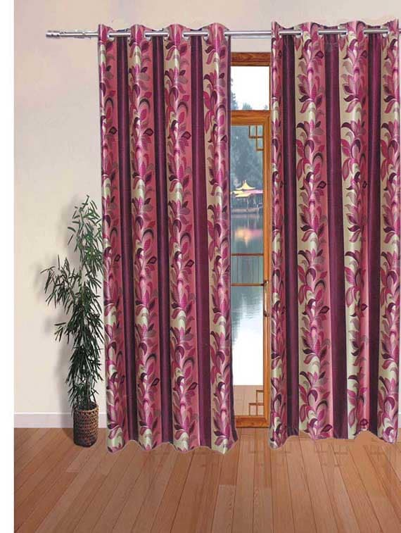 k dã©cor set of 6 beautiful polyester window curtains