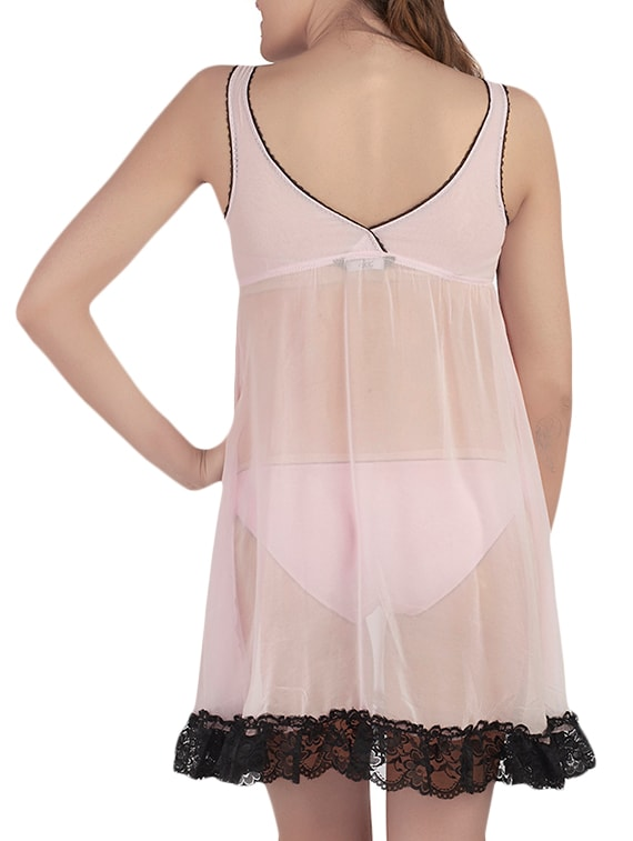 f8763bae50 Buy Pink Polyester Sleepshirts   Nighty by Soie - Online shopping for  Sleepshirts   Nighties in India