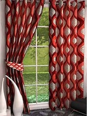 Home Fantasy Polyester Eyelet Long Door Curtain Set Of 2 - By
