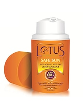 Lotus Herbals SAFE SUN ANTI-AGEING, ANTI-TAN ULTRA SUNBLOCK SPF 100+ PA+++ 30ml -  online shopping for sunscreen