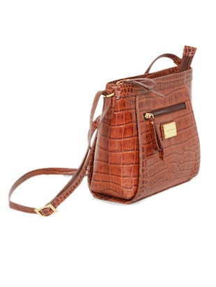 brown leather sling bag - 10707867 - Standard Image - 4