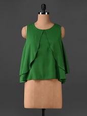 Green Sleeveless Layered Top - CHERYMOYA