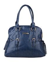 Blue Texture Designed Hand Bag - Lino Perros