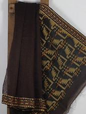 Brown Handwoven Cotton Silk Jamdani Saree - NFTSSLTD