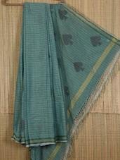 Light Blue Handwoven Cotton Silk Saree - NFTSSLTD
