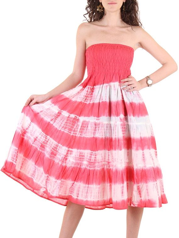 c1030c318b5 Buy Pink Cotton Fit   Flared Dress by Ruhaan s - Online shopping for Dresses  in India