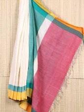 Bengal  Handloom Handwoven Cotton Saree - Cotton Koleksi