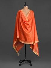 Solid Bordered Cotton Silk Dupatta - Inara Robes