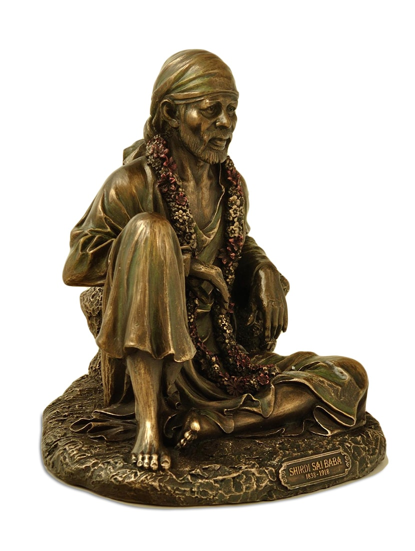 SAI BABA SITTING 6 5 Inch Idol Murti Statue for home and Office