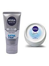 Nivea Men Dark Spot Reduction Face Wash, 100ml With Free Nivea Soft Cream, 25ml - By