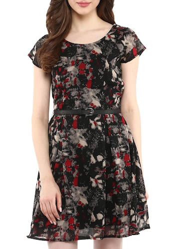 black printed casual dress - 10742930 - Standard Image - 1