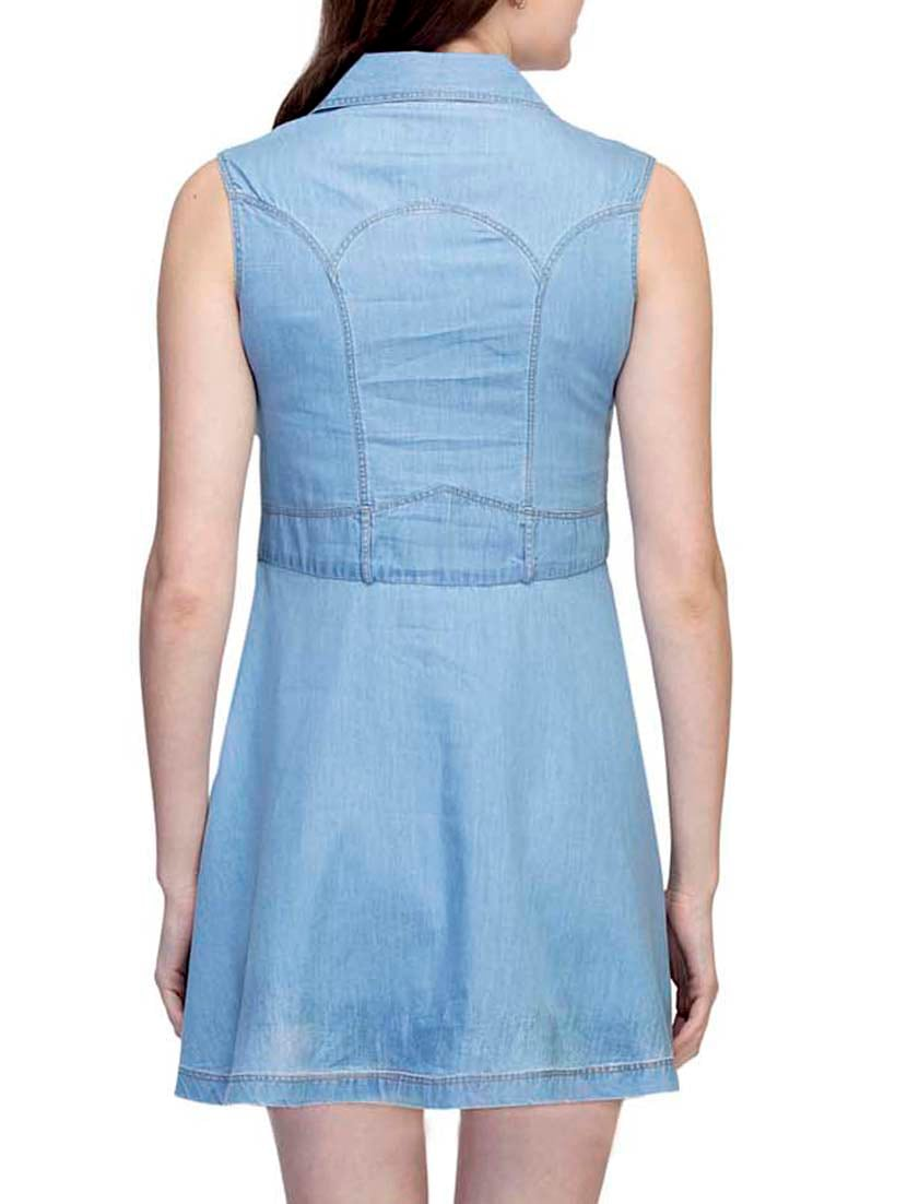 7bef166237f6 Buy Light Blue Denim Skater Dress for Women from Ursense for ₹974 at 39%  off