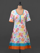 Multicolored Floral Cotton Kurti - MOTIF