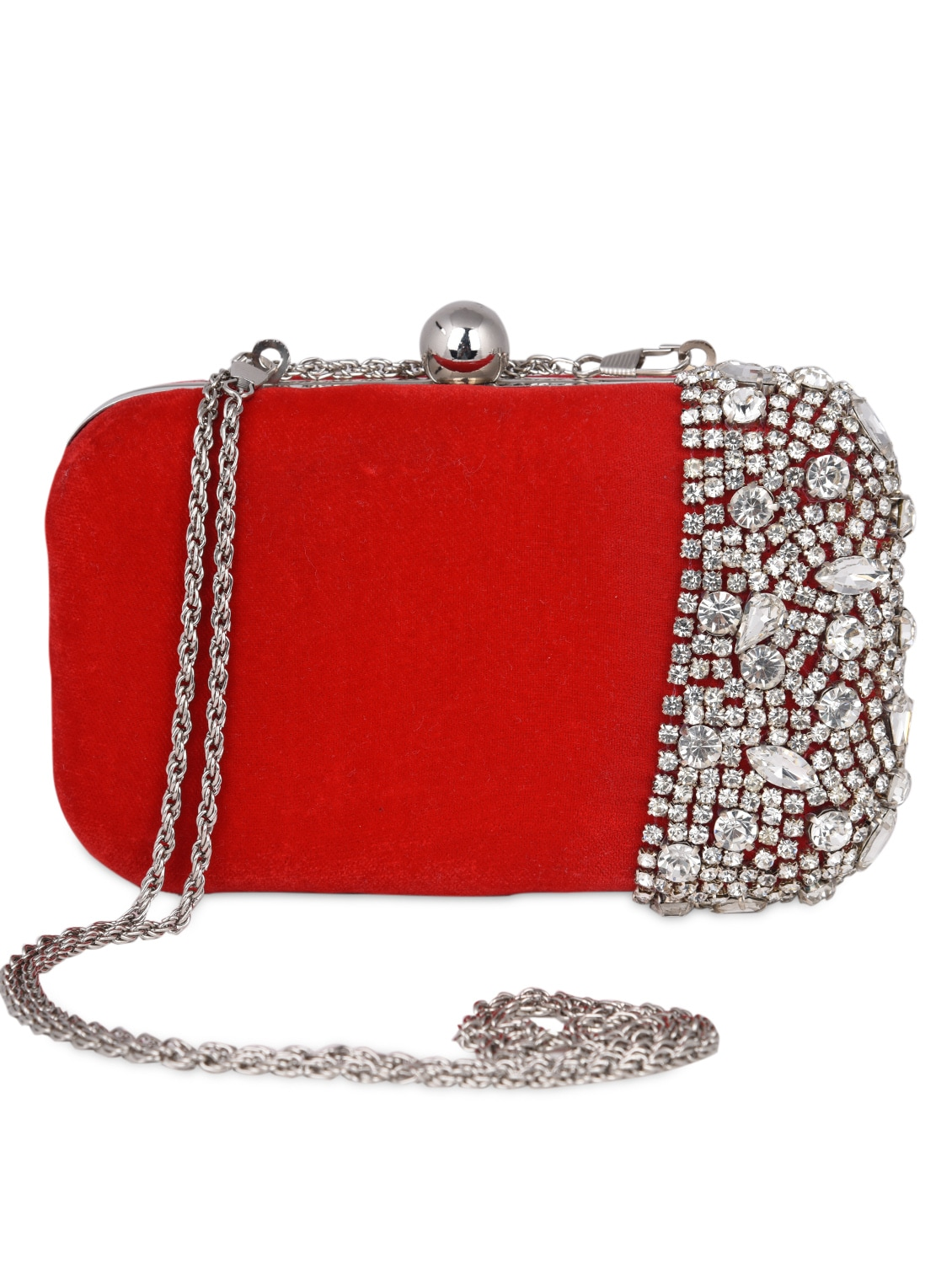 8db5a355be Buy Stone Embellished Velvet Clutch Bag for Women from Uptown for ₹1581 at  49% off | 2019 Limeroad.com