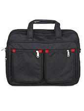 Black Nylon Laptop Bag - Kara