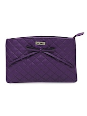 Quilted Faux Leather Sling Bag With Bow - Bern