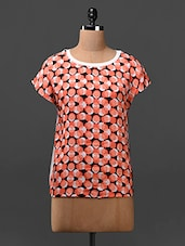 Short Sleeve Crepe, Cotton Knit Top - HERMOSEAR