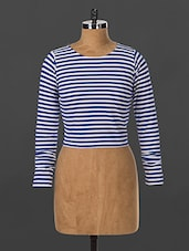 Stripes Printed Cotton Top - By