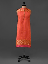 Sleeveless Chanderi Silk Kurti - AMOUR