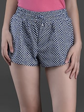 Polka Dot Printed Cotton Shorts - Hypernation