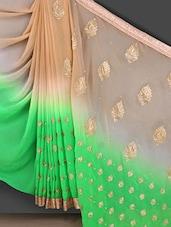 Embroidered Ombre Gota Bordered Saree - Bunny Sarees