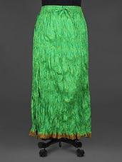 Bandhej Print Crinkled Midi Cotton Skirt - Indian Shoppe