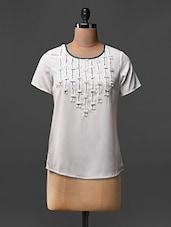 Short Sleeves Poly Crepe Top - L'elegantae