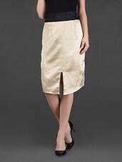 Golden Front Slit Polyester Slit - Ridress