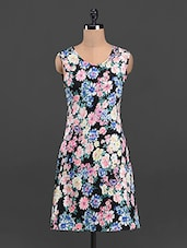 Floral Round Neck Sleeveless Dress - Sweet Lemon