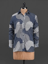 Abstract Patch Printed Full Sleeve Shirt - Sweet Lemon