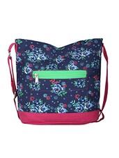 Blue Floral Print Handbag - Vogue Tree