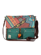 Printed flap messenger bag -  online shopping for Laptop bags