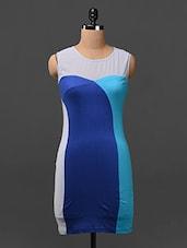Sleeveless Colour Block Dress - Citrine