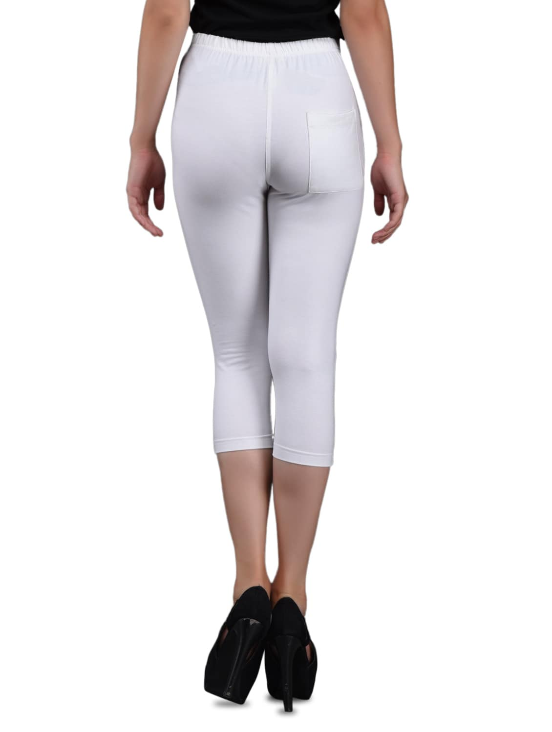 165ecc14aae44 Buy White Cotton Knee-length Leggings for Women from Finesse for ₹449 at 0%  off | 2019 Limeroad.com