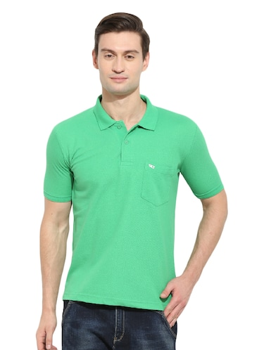 e06660a5 Buy Duke Stardust Green Cotton Blend T-shirt for Men from Duke for ...
