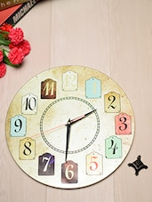 Multicolor Tempered Glass Wall Clock - By