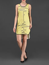 Round Neck ECG Printed Dress - I AM TROUBLE BY KC