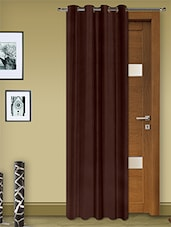 Brown Faux Silk Eyelet One Piece Door Curtain - Story @ Home