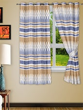 Multicolour Polyester Two Piece Window Curtain - Story @ Home