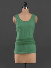 Solid Green Sleeveless Tee - RENA LOVE